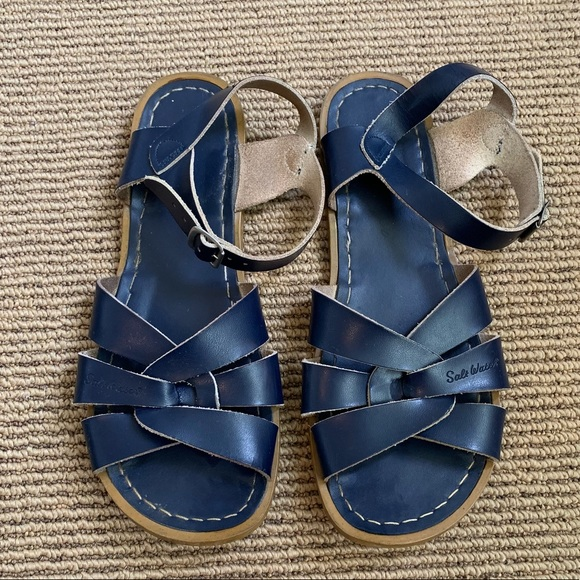 07df0fb4d71a0 Salt Water Sandals by Hoy Shoes | Saltwater Sandals Navy Blue Womens ...